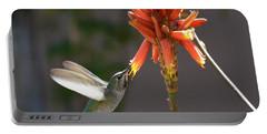 Arizona Hummingbird Drinking Aloe Nectar Portable Battery Charger