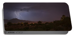 Portable Battery Charger featuring the photograph Arizona Monsoon Lightning by Dan McManus