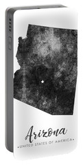 Arizona State Map Art - Grunge Silhouette Portable Battery Charger