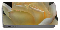 Portable Battery Charger featuring the digital art Arizona Territorial Rose Garden - Pale Yellow  by Kirt Tisdale