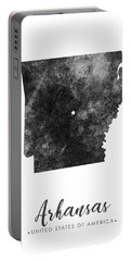 Arkansas State Map Art - Grunge Silhouette Portable Battery Charger