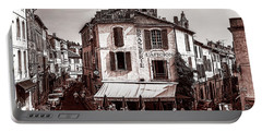 Arles, France, In Sepia Portable Battery Charger