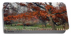 Arlington Cemetery In Fall Portable Battery Charger