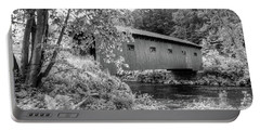Portable Battery Charger featuring the photograph Arlington Green Covered Bridge by Guy Whiteley
