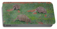 Armadillos In The Yard Portable Battery Charger