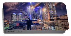 Portable Battery Charger featuring the photograph Armageddon Detroit by Nicholas Grunas