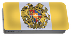 Portable Battery Charger featuring the drawing Armenia Coat Of Arms by Movie Poster Prints