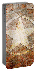 Army Star On Rust Portable Battery Charger
