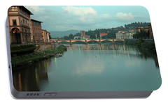 Portable Battery Charger featuring the photograph Arno River, Florence, Italy by Mark Czerniec
