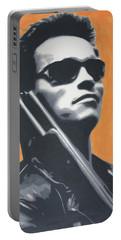 Arnold Schwarzenegger 2013 Portable Battery Charger by Luis Ludzska