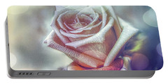 Portable Battery Charger featuring the digital art Aromatic Rose by Bonnie Willis