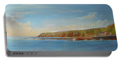 Around Burnmouth Scotland Portable Battery Charger by Beatrice Cloake