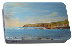 Portable Battery Charger featuring the painting Around Burnmouth Scotland by Beatrice Cloake