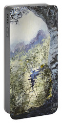 Portable Battery Charger featuring the painting Around The Bend by Todd Blanchard