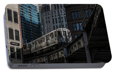Around The Corner, Chicago Portable Battery Charger by Reinier Snijders
