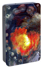 Portable Battery Charger featuring the digital art Arrival by Linda Sannuti