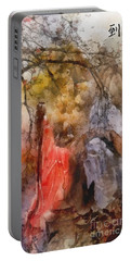 Portable Battery Charger featuring the painting Arrival by Mo T