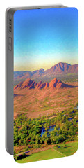 Arriving In Phoenix Digital Watercolor Portable Battery Charger