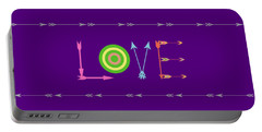 Arrow Love - Changeable Background Color Portable Battery Charger by Inspired Arts
