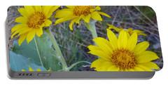 Arrowleaf Balsamroot Flower Portable Battery Charger