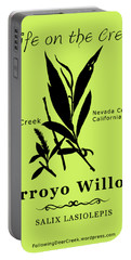 Arroyo Willow - Black Text Portable Battery Charger