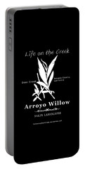 Arroyo Willow - White Text Portable Battery Charger