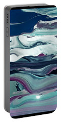 Portable Battery Charger featuring the painting Art Abstract by Sheila Mcdonald
