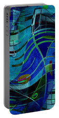Portable Battery Charger featuring the digital art Art Abstract With Culture by Sheila Mcdonald