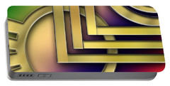Portable Battery Charger featuring the digital art Art Deco 25 by Chuck Staley