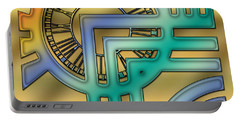 Portable Battery Charger featuring the digital art Art Deco 24 by Chuck Staley