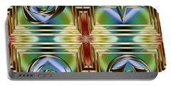 Art Deco 4 Panel Portable Battery Charger