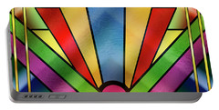 Art Deco Chevron 4 - Chuck Staley Portable Battery Charger by Chuck Staley