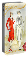 Art Deco Fashion Girls Portable Battery Charger