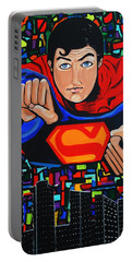 Art Deco  Superman Portable Battery Charger by Nora Shepley