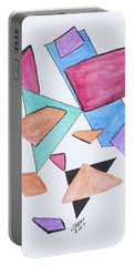 Portable Battery Charger featuring the painting Art Doodle No. 1 by Clyde J Kell