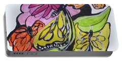 Portable Battery Charger featuring the painting Art Doodle No. 3 by Clyde J Kell