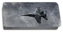 Portable Battery Charger featuring the photograph Art In Flight F-18 Fighter by Aaron Lee Berg
