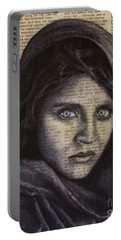 Art In The News 64-afghan Girl Portable Battery Charger