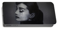 Art In The News 98-audrey Hepburn Portable Battery Charger