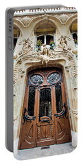 Portable Battery Charger featuring the photograph Art Nouveau Doors - Paris, France by Melanie Alexandra Price