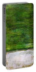 Art Print Green White Portable Battery Charger