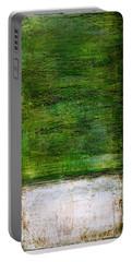 Art Print Green White Portable Battery Charger