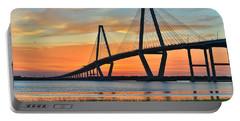 Arthur Ravenel Jr. Bridge At Dusk - Charleston Sc Portable Battery Charger