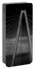 Arthur Ravenel Jr Bridge Portable Battery Charger by DigiArt Diaries by Vicky B Fuller