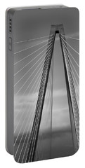 Arthur Ravenel Jr Bridge II Portable Battery Charger by DigiArt Diaries by Vicky B Fuller