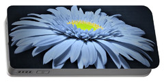 Artic Blue Gerber Daisy Portable Battery Charger