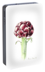 Artichoke From Roman Market Portable Battery Charger by Alison Cooper