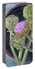 Artichoke In Bloom Portable Battery Charger
