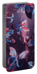Artistic Colorful Butterfly Design Portable Battery Charger