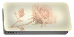 Artistic Etched Rose Portable Battery Charger